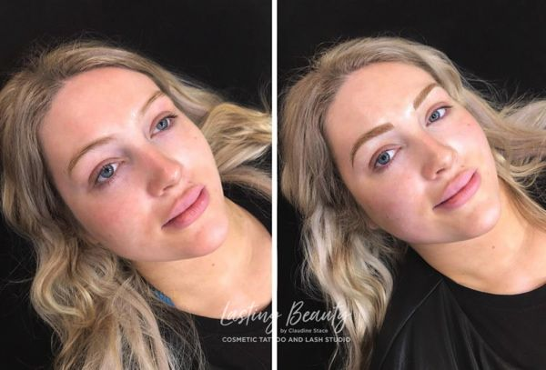 ombre brows blonde pair claudine stace permanent makeup cosmetic tattoo wellington lower hutt micropigmentation lasting beauty 600px